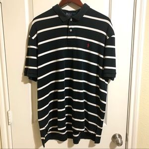 Polo Ralph Lauren Navy Striped Polo XL